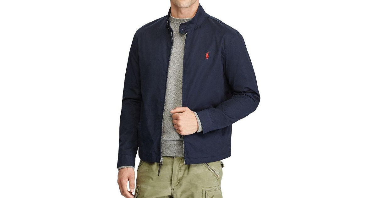 babb3258e ... shopping lyst polo ralph lauren big tall cotton twill jacket in blue  for men 6d713 37ee9