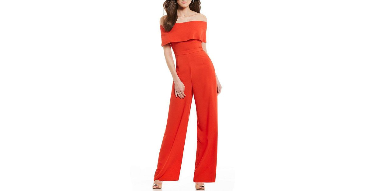 f436d39380f Antonio Melani Conrad Off-the-shoulder Jumpsuit in Blue - Lyst