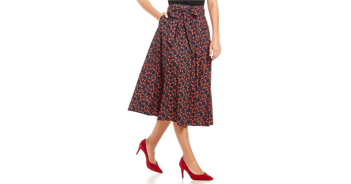 5d768be9224 Lyst - Antonio Melani Charlotte Skirt Made With Liberty Fabrics in Red