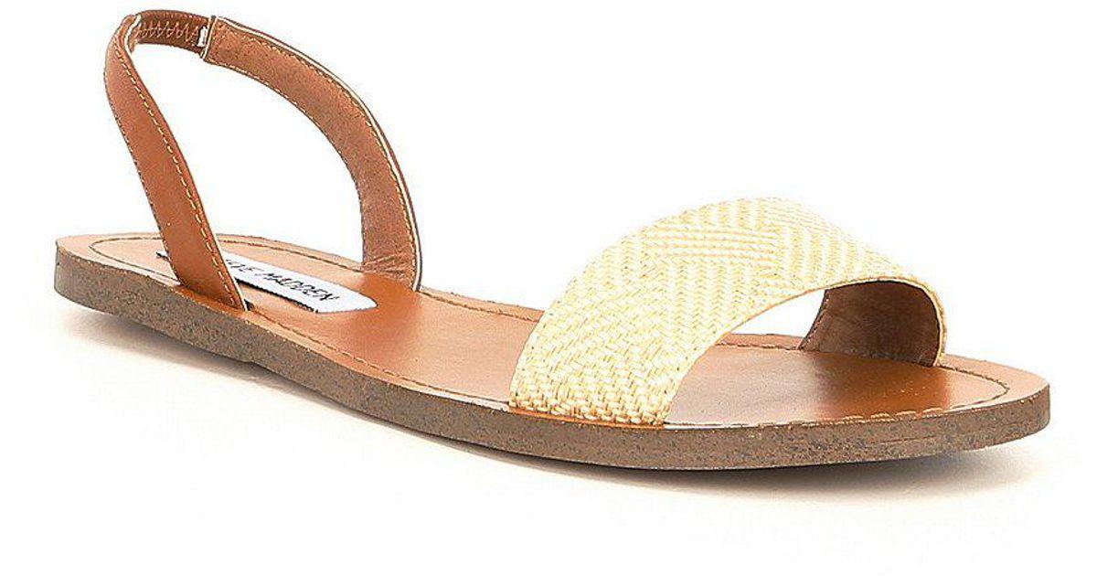 Steve Madden Alina Raffia Slingback Sandals yFVKFPUE