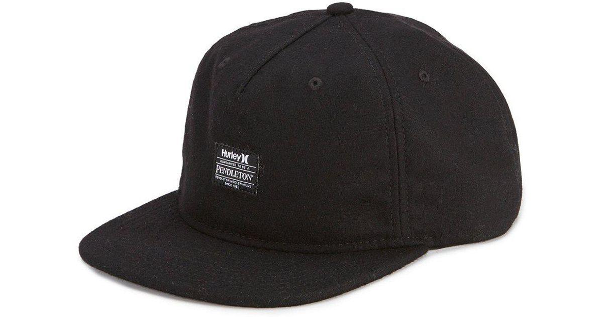 Lyst - Hurley Pendleton Collaboration Hat in Black for Men 467b6f69f7f4