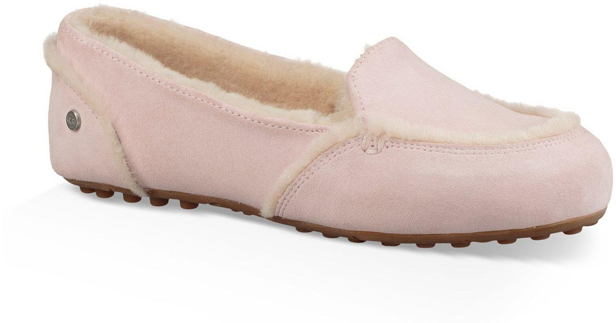 938f37219f4 Lyst - UGG Hailey Suede Slippers in Pink