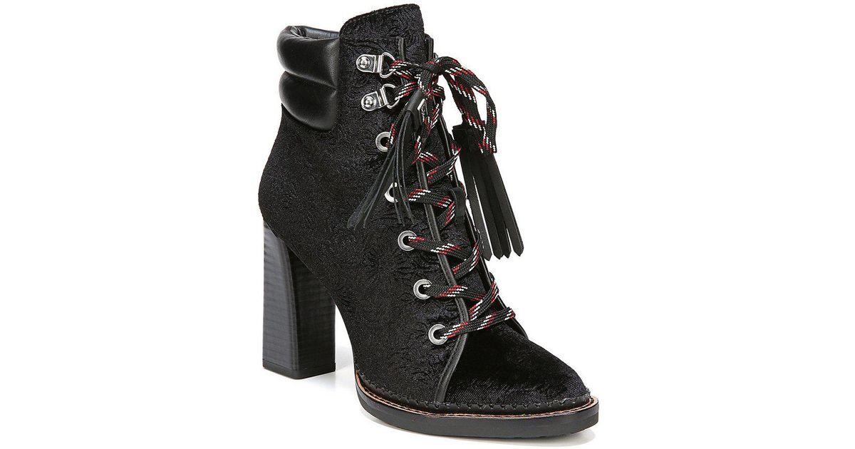 847ccd2e6788c Lyst - Sam Edelman Sondra Floral Velvet Booties in Black