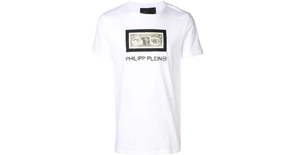 448b42886e5 Lyst - Philipp Plein Dollar T-shirt in White for Men