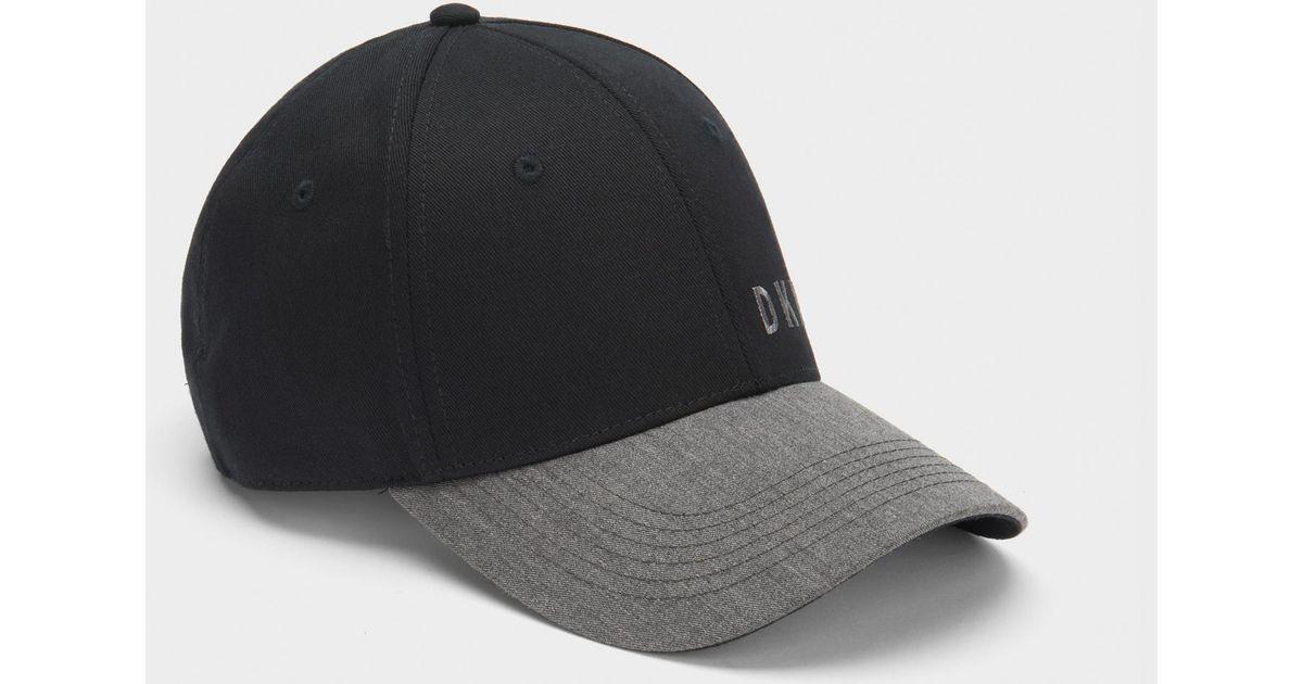 Lyst - DKNY Colorblock Logo Cap in Black for Men 27a3edabeb80