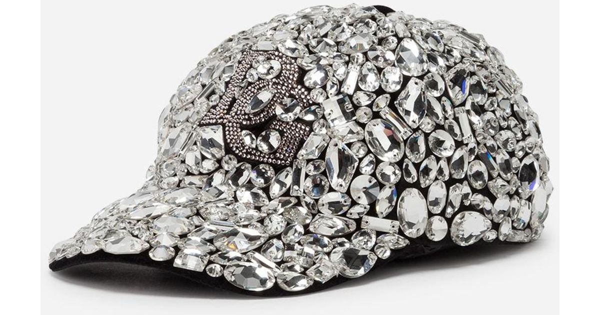 Lyst - Dolce   Gabbana Baseball Cap In Velvet With Crystals for Men ecc427cae97