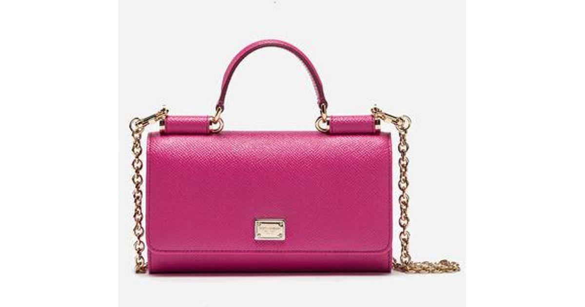 20f31b504c20 Dolce   Gabbana Min Von Bag In Dauphine Leather in Pink - Lyst