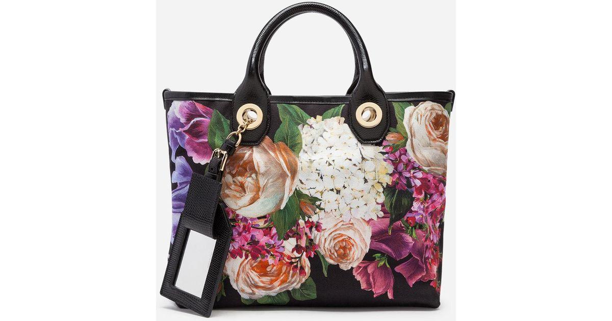 39602daa5ff8 Lyst - Dolce   Gabbana Capri Shopping Bag In Printed Canvas