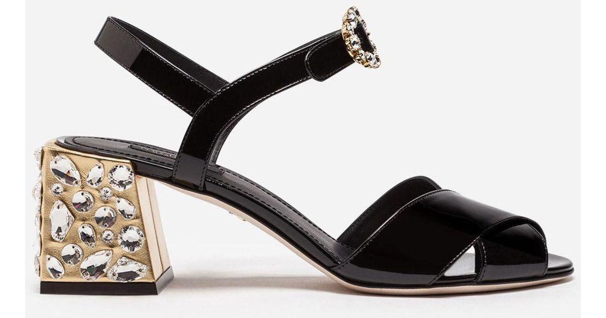 Dolce & Gabbana Patent Leather Sandal 0WnAwj