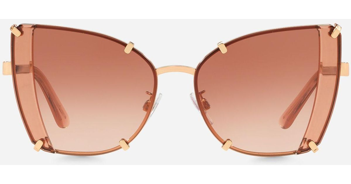 3ce71252a8a Lyst - Dolce   Gabbana Faceted Butterfly Sunglasses in Pink - Save 25%