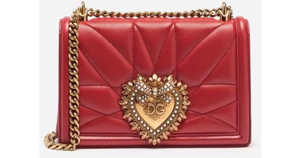 Dolceamp; Gabbana Bandoulière Medium Devotion Lyst Bag En Cuir Sac À oCdexB