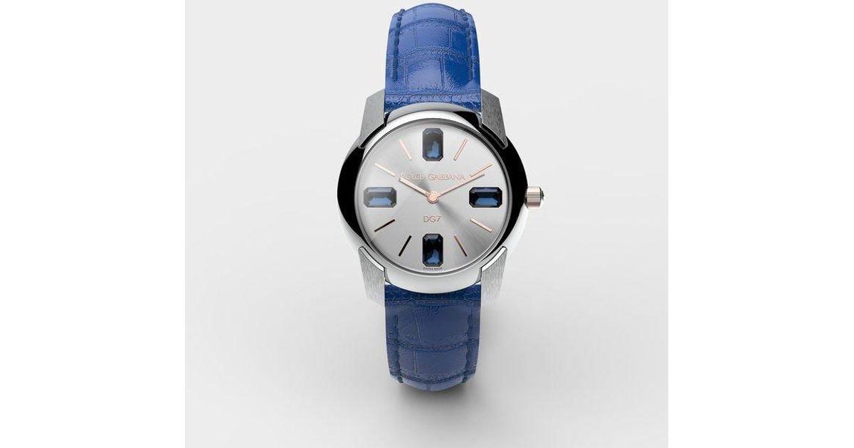 766b8855289e Reloj Con Correa De Caimán Dolce   Gabbana de color Azul - Lyst