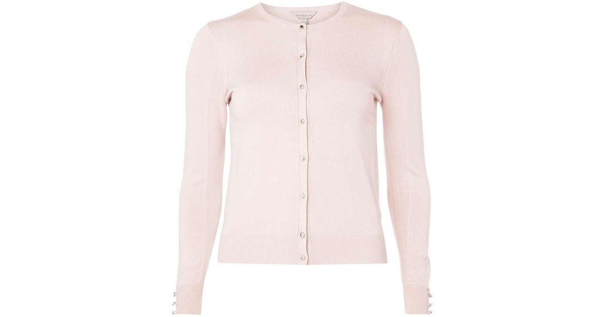 Dorothy perkins Petite Dusky Pink Cardigan in Pink | Lyst