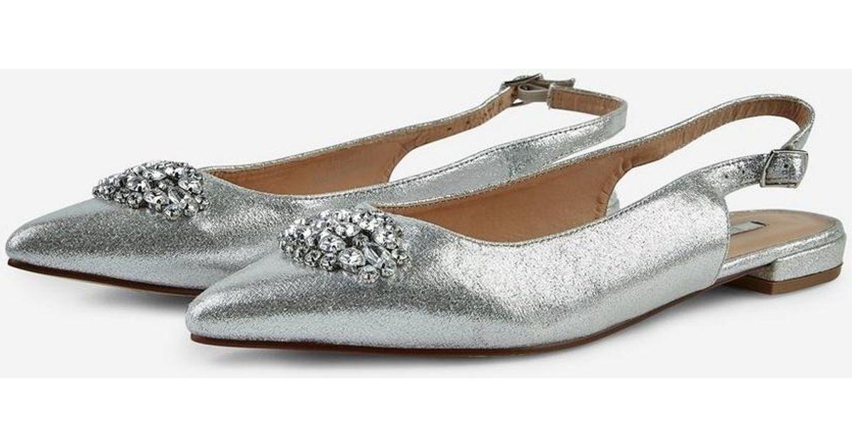 cbd6c210f Dorothy Perkins Showcase Silver  petrona  Jewelled Shoes in Metallic - Lyst