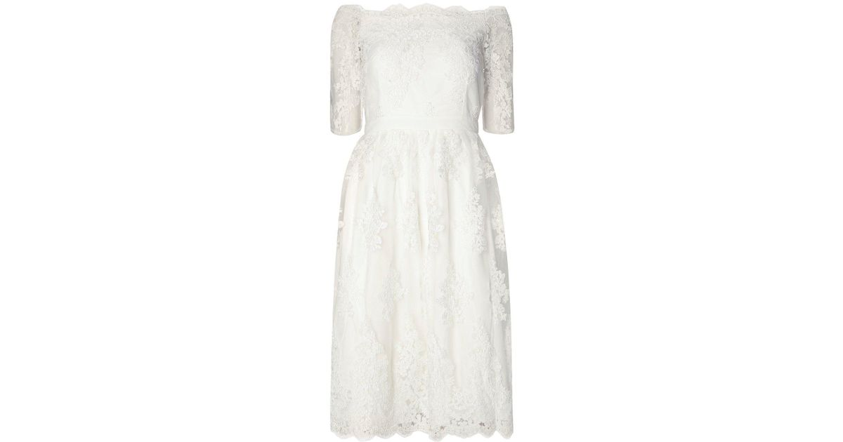 024f6a26fcc272 Dorothy Perkins Ivory  arabella  Bardot Wedding Dress in White - Lyst