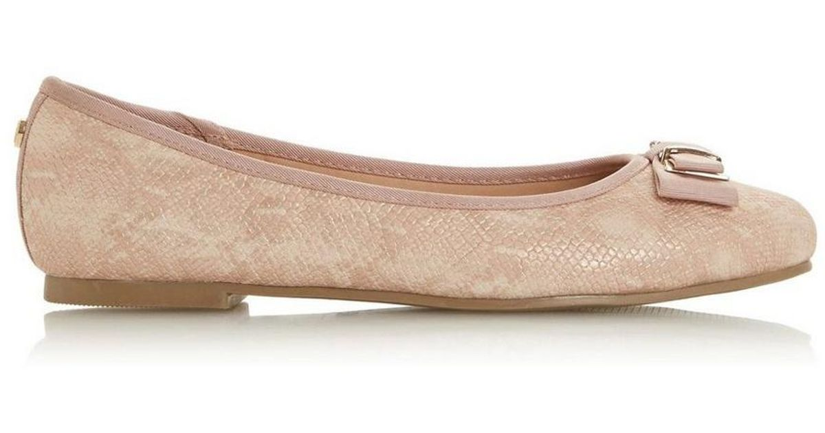 d0026585ff8a Dorothy Perkins Head Over Heels By Dune Nude  hayleigh  Ladies Flat Pumps  in Natural - Lyst