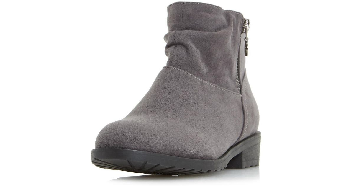 0dfdd9fc6 Dorothy Perkins Head Over Heels By Dune Grey Perci Ankle Boots in Gray -  Lyst