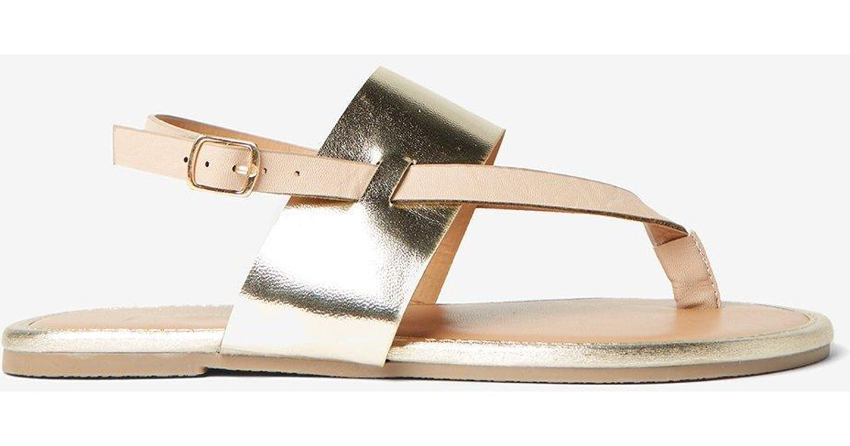 ae5ca44166cb Dorothy Perkins Wide Fit Nude  future  Sandals in White - Lyst