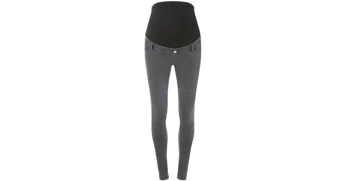 1e4baa6411fb7 Lyst - Dorothy Perkins Maternity Grey 'darcy' Skinny Jeans in Gray