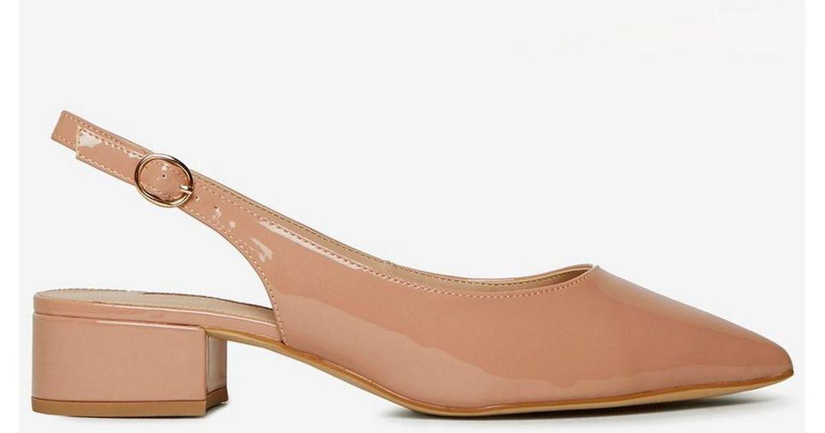 4ccda8254f Lyst - Dorothy Perkins Blush Pu 'daphne' Block Heel Slingback Court Shoes  in Pink