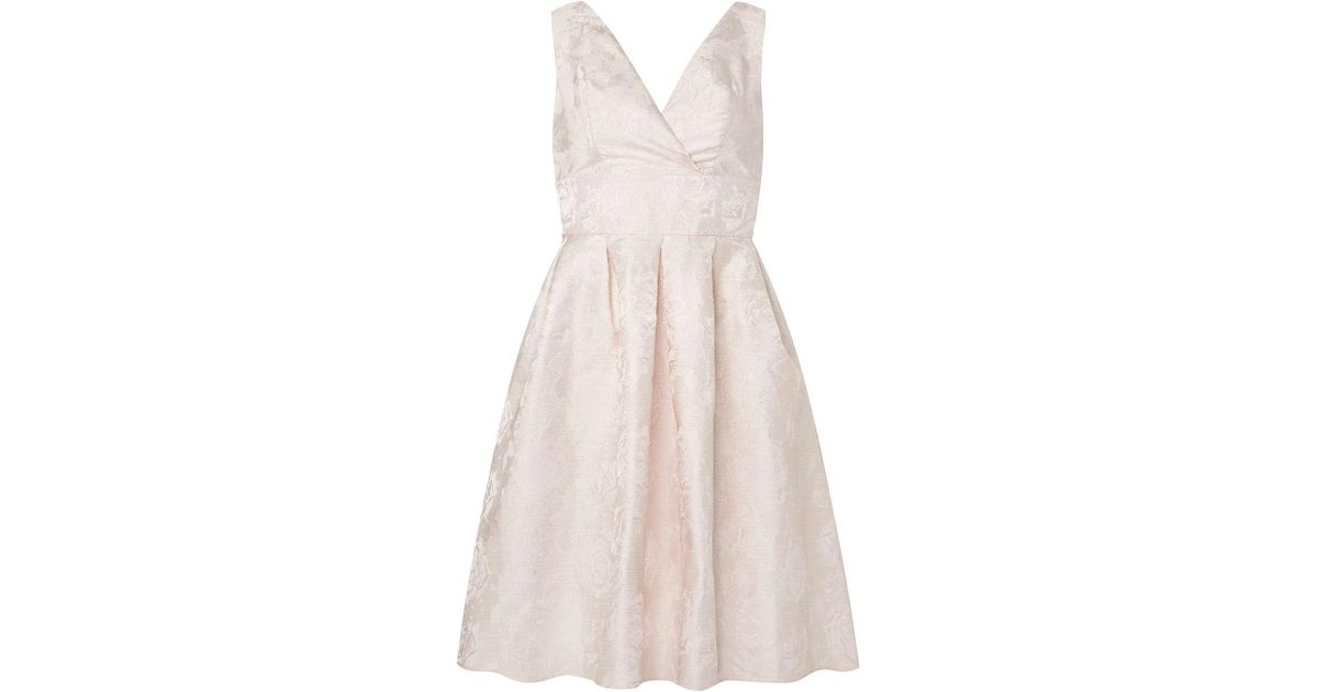 Lyst - Dorothy Perkins Luxe Blush Wrap Prom Dress