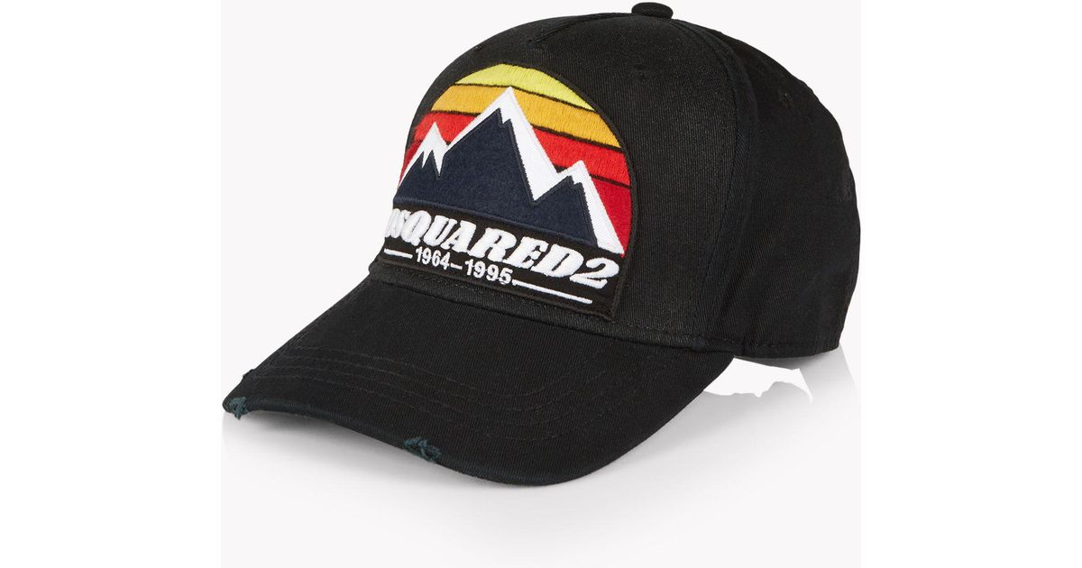 Lyst - DSquared² D2 Mountain Baseball Cap in Black for Men c7c4fafd32f