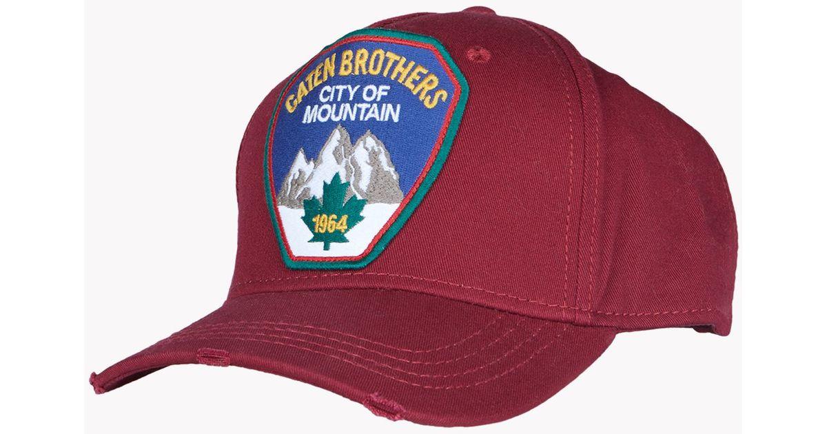 f8c1582e0 DSquared² - Red Baseball Cap for Men - Lyst