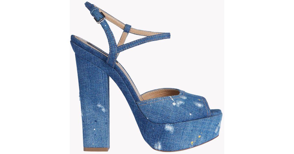 8e4cb38c046 DSquared² - Blue Platform Ziggy Sandals - Lyst