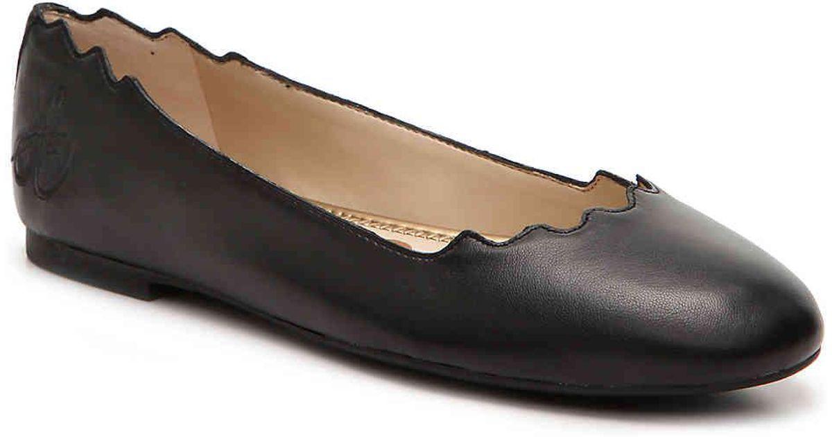 39904ceb4c061 Lyst - Sam Edelman Finnegan Ballet Flat in Black