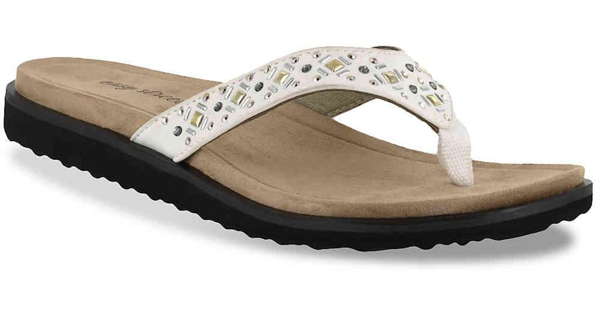 e935d2cf5ac6 Lyst - Easy Street Stevie Sandal in White