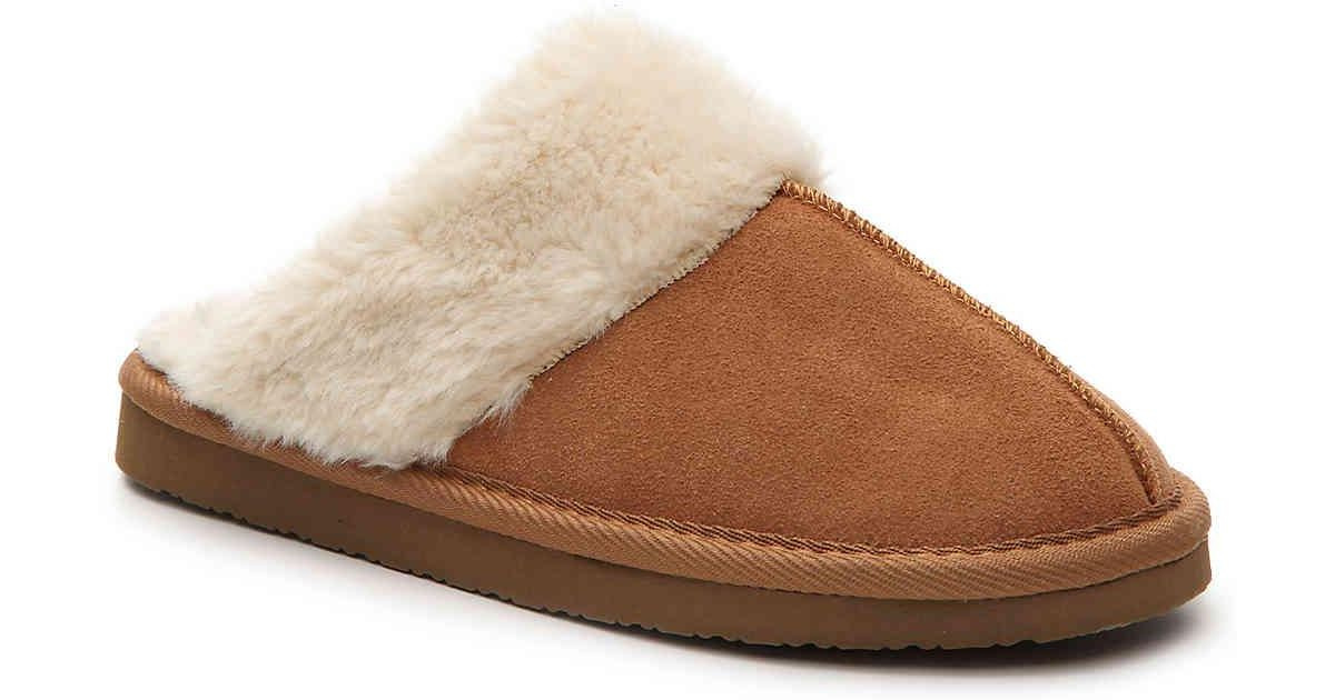 ee8d5f598205e Lyst - Minnetonka Chesney Slide Slipper in Brown