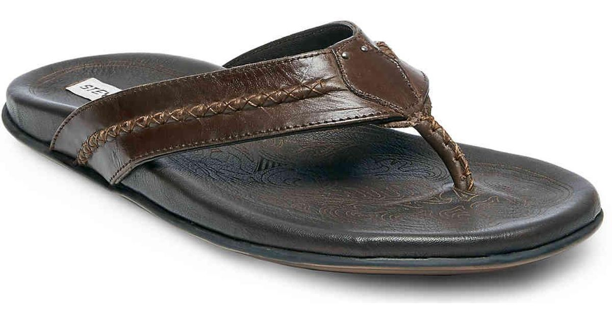 5e2537a7c2a Lyst - Steve Madden Solace Flip Flop in Brown for Men
