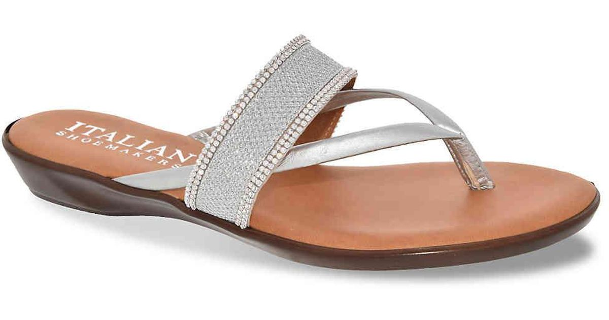 c05a50675ad3 ... Lyst Italian Shoemakers Kloss Sandal in Metallic