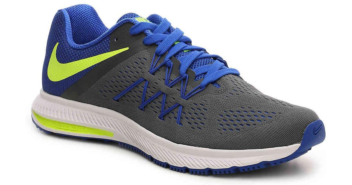 new style b8106 6a9f6 Lyst - Nike Zoom Winflo 3 Lightweight Running Shoe in Blue for Men