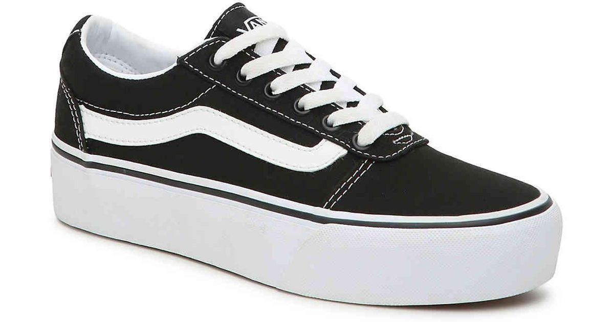 4079b74f75 Lyst - Vans Ward Platform Sneaker in Black
