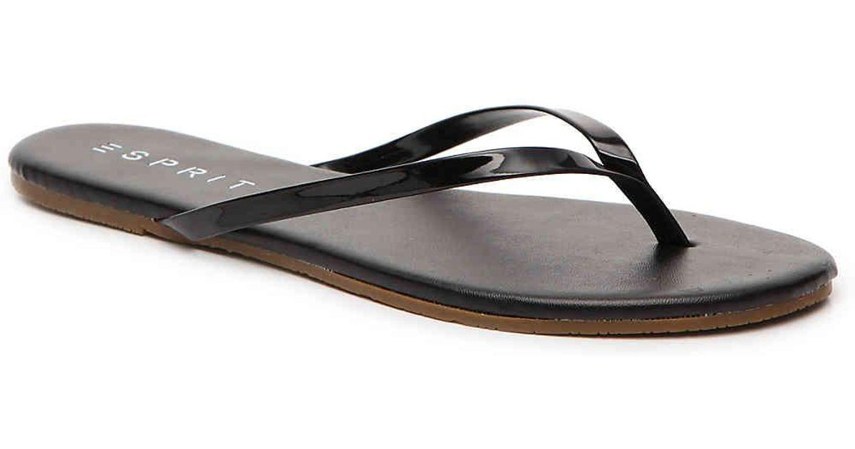 67f38c2f6 Lyst - Esprit Party Flip Flop in Black