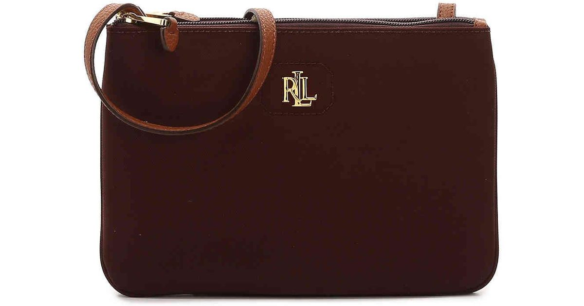 062e09d3c648 Lyst - Lauren by Ralph Lauren Bainbridge Tara Crossbody Bag