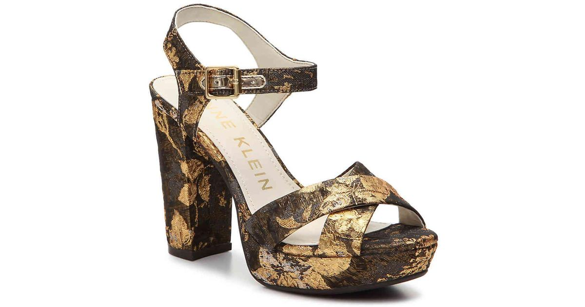 ee9a176c0ca7 Lyst - Anne Klein Lalima Platform Sandal in Metallic