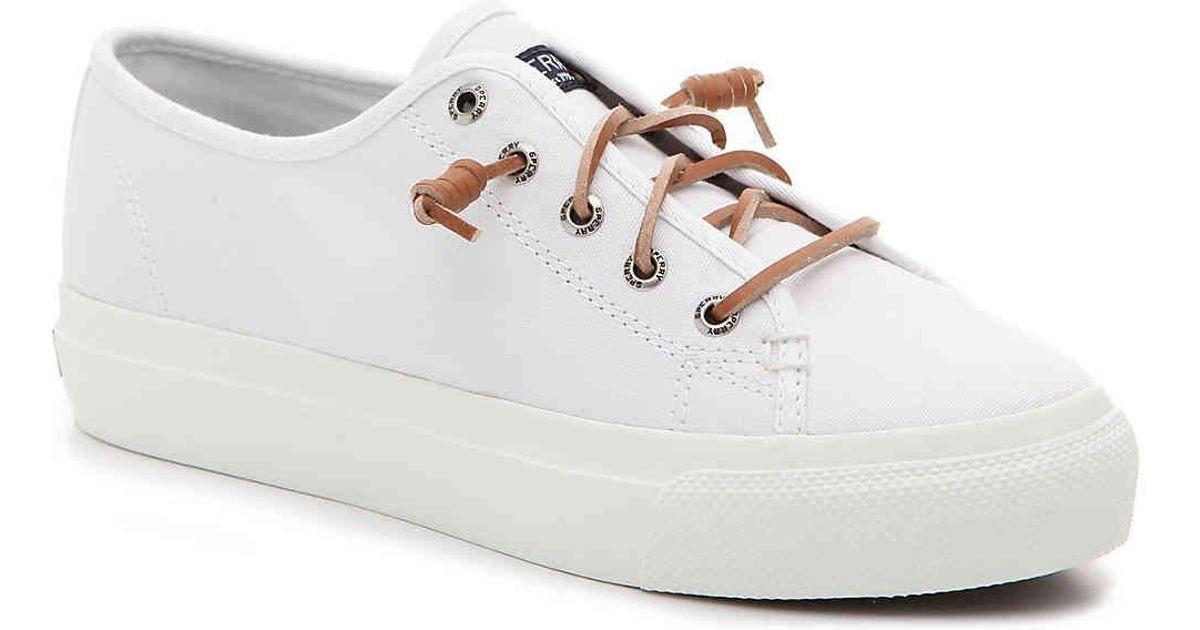 894b05c8d8e Lyst - Sperry Top-Sider Cliffside Platform Slip-on Sneaker in White - Save  45%