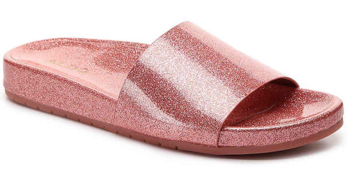 15eb2895f28 Lyst - ALDO Mirelacia Slide Sandal in Pink