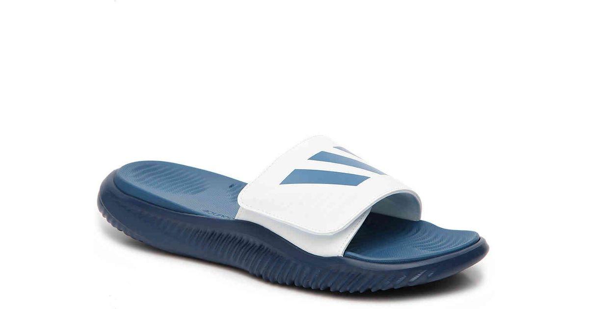 93f3e3f68ad Lyst - adidas Alpha Bounce Slide Sandal in Blue for Men
