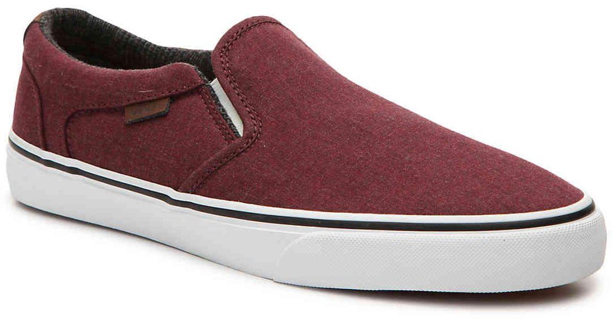 86b65eb4df7 Lyst - Vans Asher Deluxe Slip-on Sneaker in Red for Men