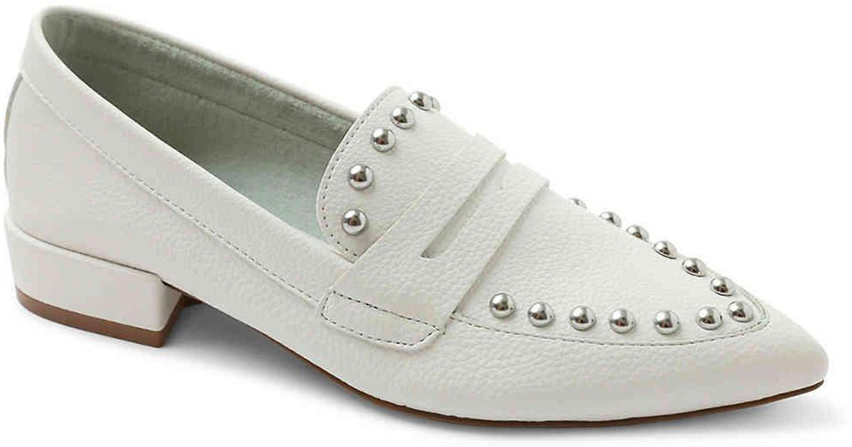 b412a1fe65c Lyst - Kensie Lori Penny Loafer in White