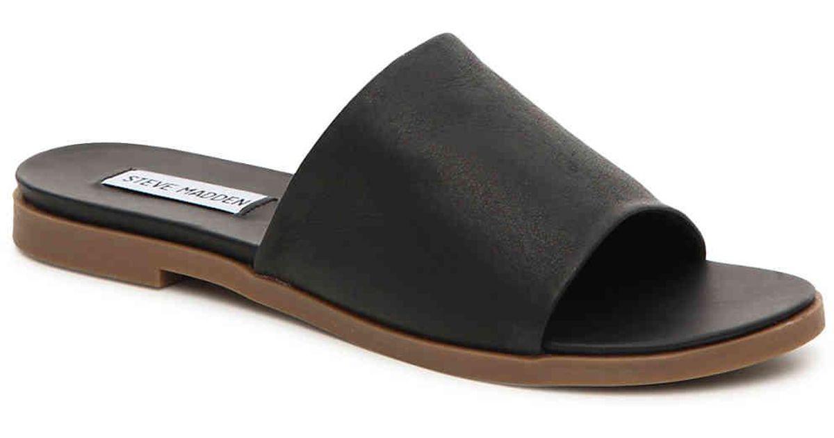 4fac747032a Lyst - Steve Madden Karolyn Flat Sandal in Black