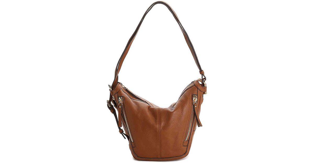 9367c3dd1887 Vince Camuto Jonna Leather Shoulder Bag in Brown - Lyst