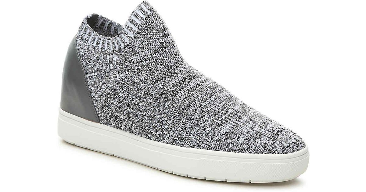 6aa9a2cdea8 Lyst - Steve Madden Sly Mid-top Wedge Sneaker in Gray