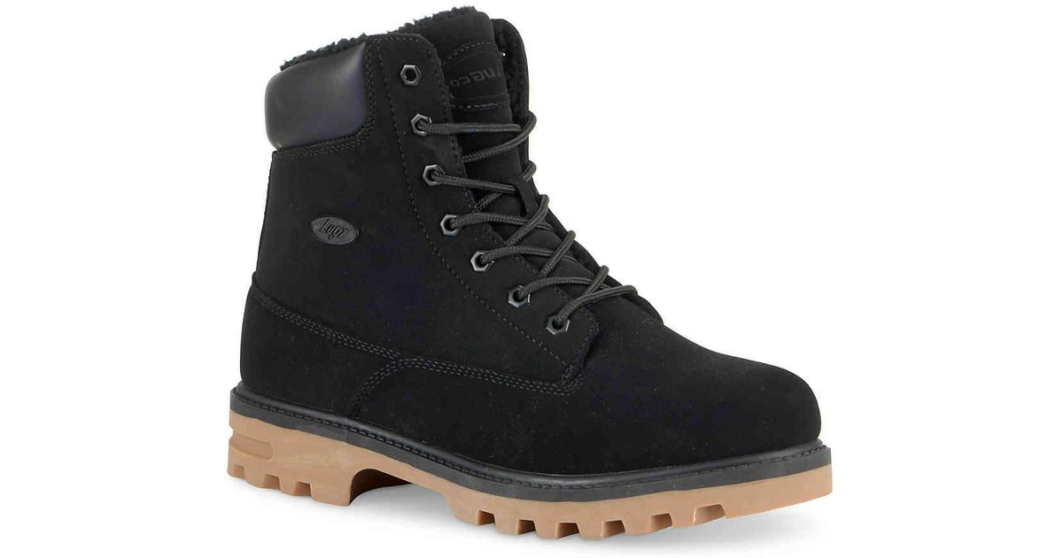 66c0cd11fc50 Lyst - Lugz Empire Hi Fleece Boot in Black