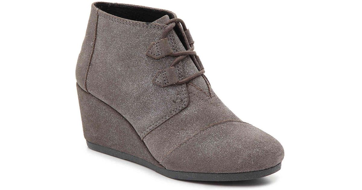 9a6a1cfeced Lyst - TOMS Kala Wedge Bootie in Gray