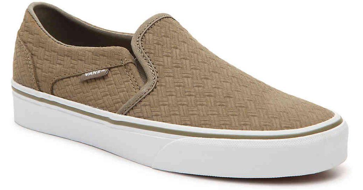 5093019f7d Lyst - Vans Asher Slip-on Sneaker in Green
