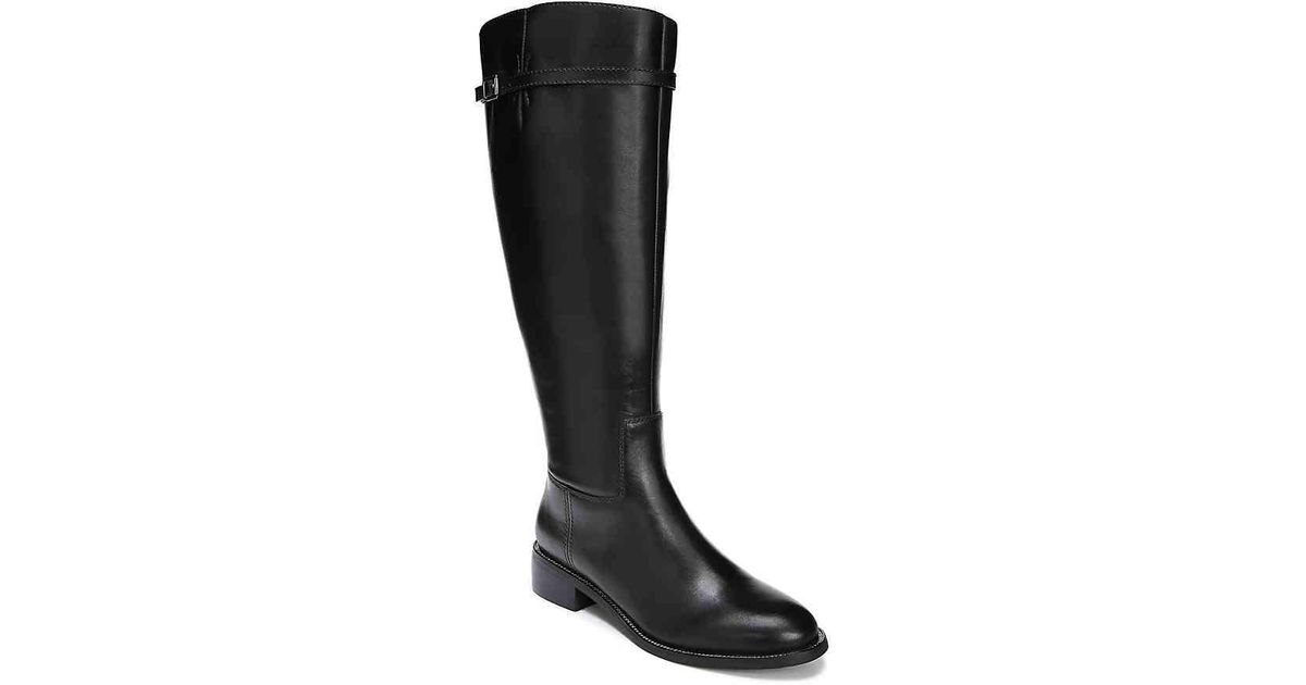 a4972a1c0 Lyst - Franco Sarto Belaire Wide Calf Leather Knee-high Boots in Black - Save  1%